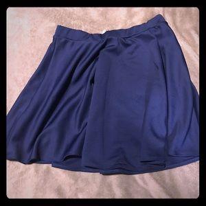 Navy Skater Skirt, Size 2X. Never Worn!
